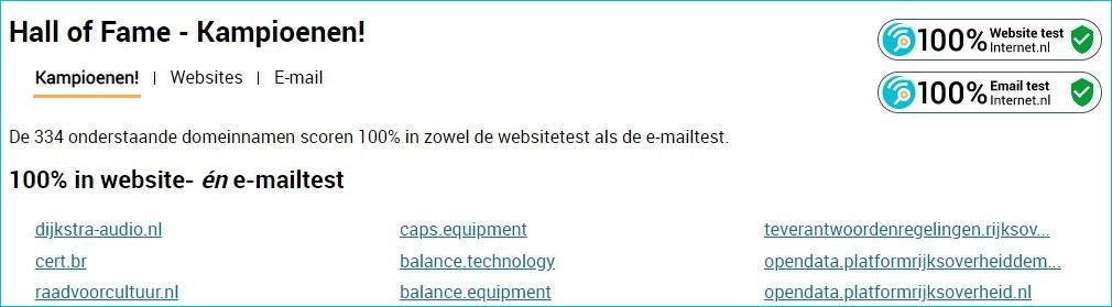 "In de Internet.nl ""Hall of Fame"" komen?"