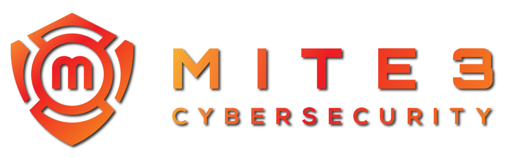 MITE3 Cybersecurity logo (wide shadow)